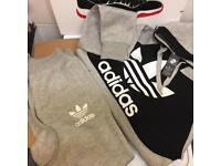 Men's grey adidas tracksuit