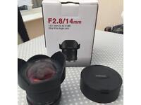 Wide Angle Lens - F2.8/14mm - Samyang