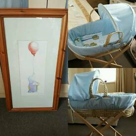 Humphrey Elephant Picture and Moses Basket