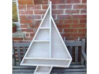 Boat shelf wooden