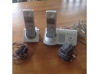 Twin Panasonic KX-TG7120E Digital speaker Answer Machine (used)