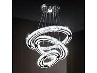 Crystal Chandelier, Modern Acrylic Design LED Pendant Light