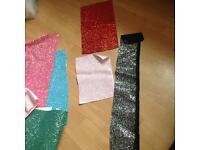 Glitter fabric scraps