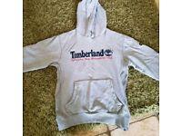 Timberland hoodie large grey