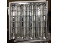 Office Light Fittings (100) for Suspended Ceiling 600mm x 600mm (4 x 18W Tubes)