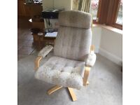 Two Lounge swivel and reclining chairs