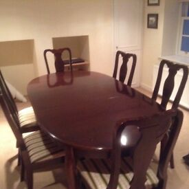 Reproduction table and chairs