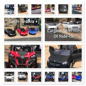 Open Fri 2.30 to 7.30, Weekend 12 To 8, Largest Selection Of 12v Kids-Ride-On Cars,