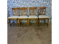 4x Large Solid Wood & Sturdy Chairs