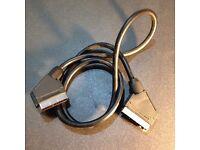 SCART cable, 1 metre long