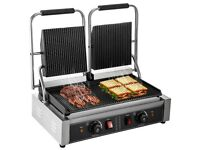 Electric Double Sided Twin Contact Grill Panini Maker