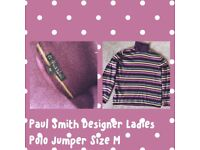 Authentic Paul Smith's ladies striped jumper, size M