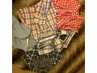 Checked shirts Jack Wills Superdry Fred Perry Ben Sherman size 12