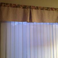 Vertical blinds and valance