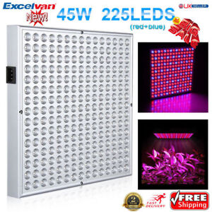 45W 225SMD LED Hydroponic Plant Grow Light Bulb Lamp Lighting Panel Board Growth