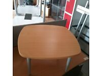 Beech effect square curved coffee table