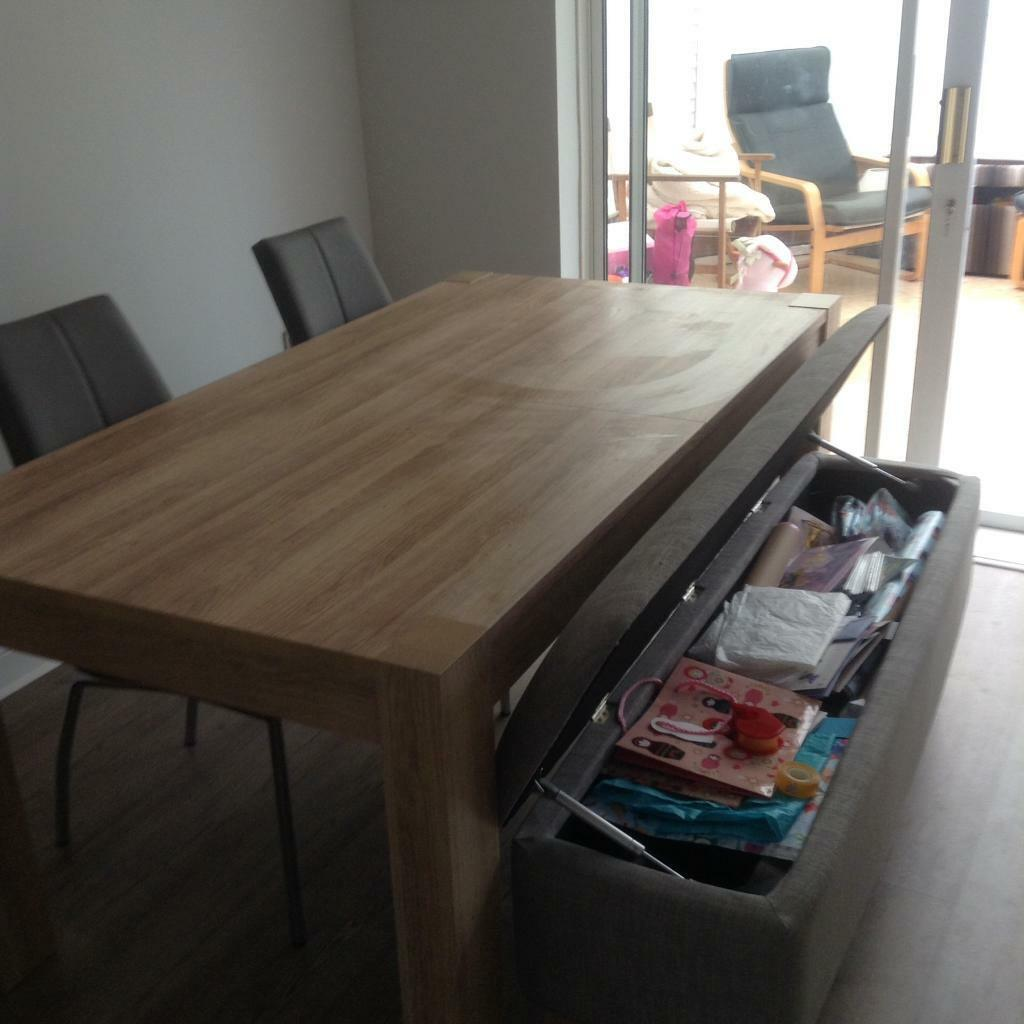next madsen dining table storage bench and 2 chairs in bradley