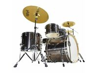 Mapex Horizon Bronze 5 Piece Full Drum Kit (22in Bass) + All Stands + Paiste 101 Cymbal Set