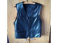 Leather (Biker Style) Waistcoat