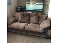 Brown sofa (dfs)