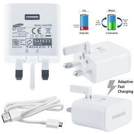 100% New Genuine Samsung Adaptor UK Mains Charger/Cable/ Plug