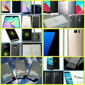 Brand New Unlocked Samsung Galaxy S6/S7/LG-G4/G5/Blackberry Priv WIND/Mobilicity/Roger/Bell/Telus/Fido/Koodo/Virgin/Publ