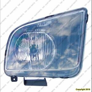 Head Lamp Passenger Side High Quality Ford Mustang 2005-2006