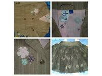12-18 months girls clothes hats. spanish outfit/shoes 2yrs clothes too