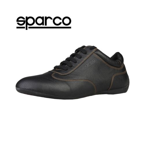 MONZA-GP SPARCO Racing Mens Hi Top Sneaker Black Suede Leather
