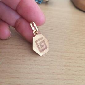 Beautiful vintage pendent 14ct gold filled
