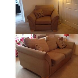 Large sofa and 2 armchairs.