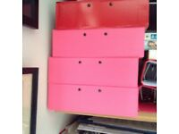 Four A4 box files