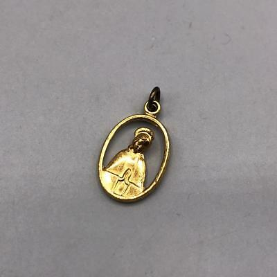 Vintage Mary Gold Tone Pendant