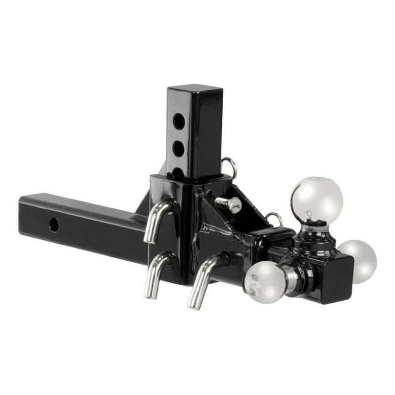 "Adjustable 2"" Reciever Hitch Tri Ball PRO Mount 10"" 3 Way Triple Tow $0 SHIP"