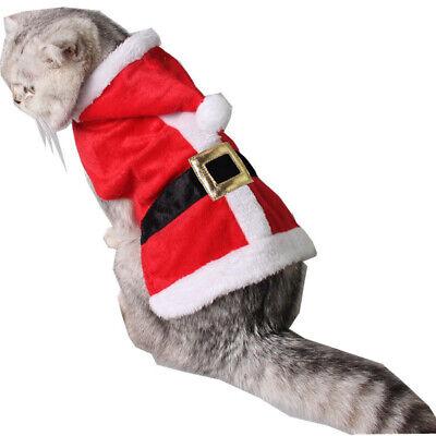 Haustiere Weihnachtskleidung Katze Warm & Lustig Weihnachtsmann Kostüm - Rot