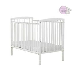 Baby Elegance - New White wooden cot