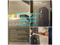 Kitsound Voice One Smart Speaker Brand New Sealed
