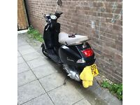 Vespa Lx 2009 Black great bike no dents one owner from new.
