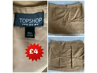 UK size 14 top shop A line mini skirt- new without tags.