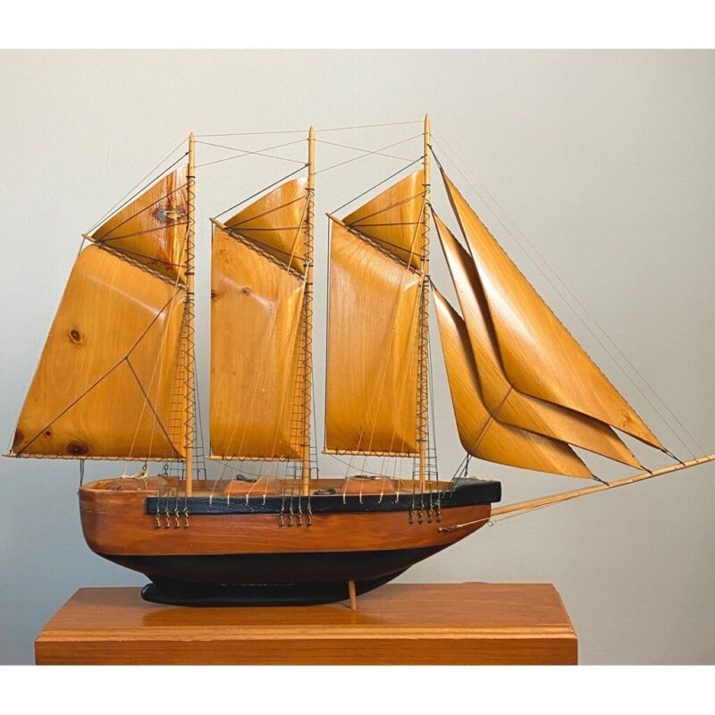 Large Scratch-Built Clipper Wooden Ship