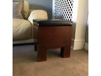 Solid wood foot stool emergency seat with storage