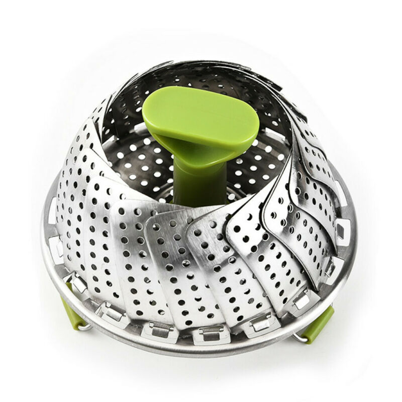stainless steel expandable steamer foldable steam food