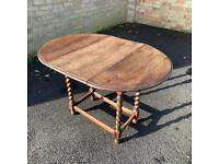 Vintage Drop Leaf Table - Barley Twist Legs