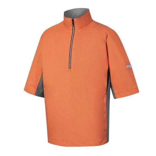 NWT FootJoy Hydrolite Short Sleeve Rain Shirt, 23736, Orange, Medium, Large, XL