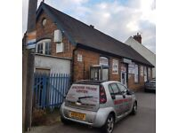 Warehouse/workshop/retail shop front to let on a 2 year lease
