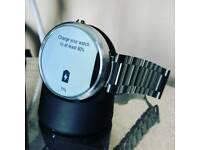Moto 360 1st gen smart watch (srainless steel)