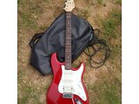 Electric 6 string lead guitar and amp