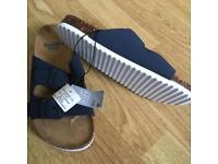 Boys navy sandals size 2