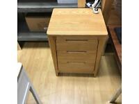 Geo oak bedside table