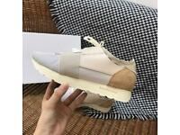 Balenciaga Racerunner Race Runner beige cream pink trainers sneakers all sizes available